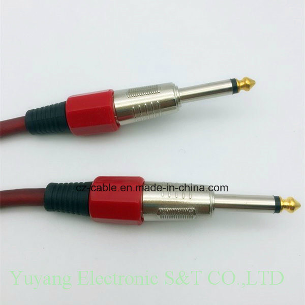 6.35mm/6.35 Mono Plug to 6.5mm/6.5 Mono Plug AV/Speaker/Microphone/Musical Cable