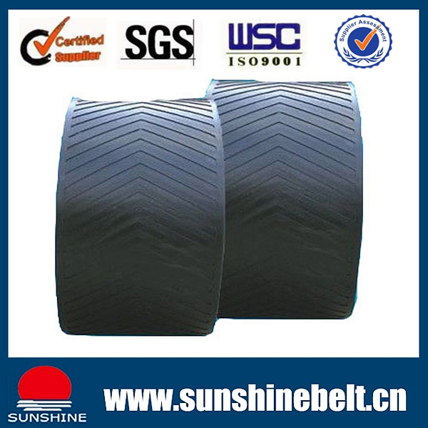 Sand Cement Fabric Ep Steel Cord Black Rubber Conveyor Belt
