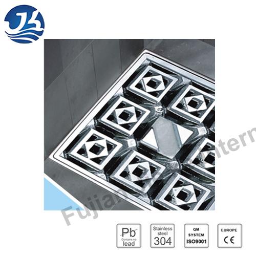 Decorative Concrete Stainless Steel Bathroom Square Floor Drain (D26-02)