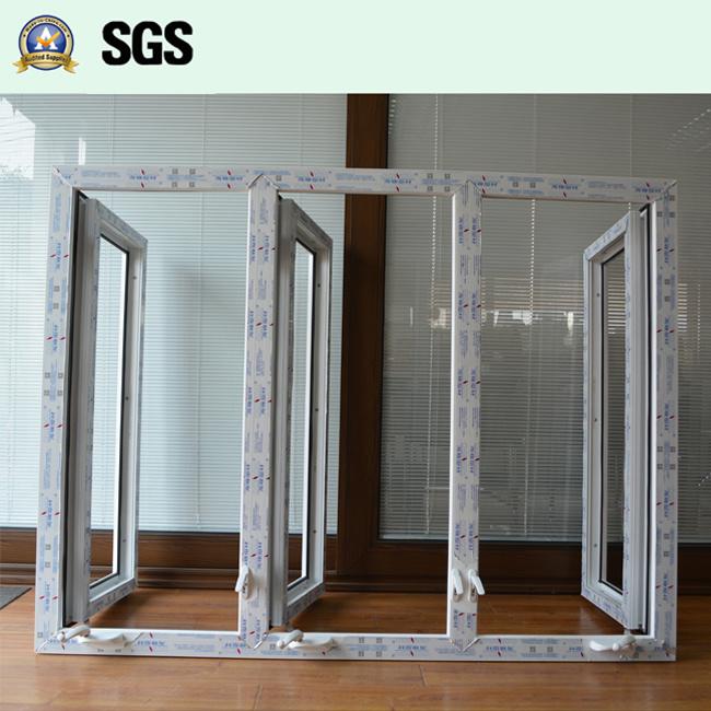 White Colour UPVC Profile Casement Window with Crank Lock K02052