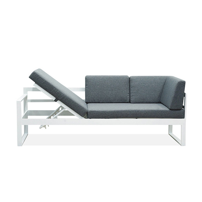 Sitting Room Hotel Furniture Wicker Outdoor Garden Chair Adjustable Rattan Sofa Set