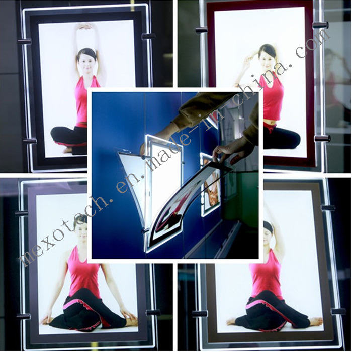 Magnetic Change Poster Acrylic LED Light Box Display for Advertisement