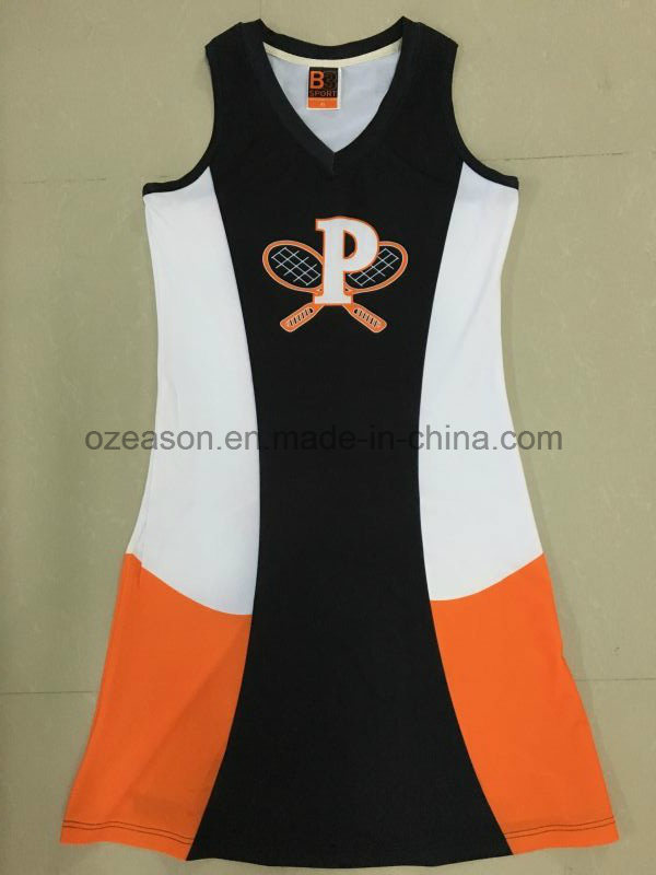 Custom Sublimation Sexy Women Team Netball Dresses Uniforms Skirts (N009)