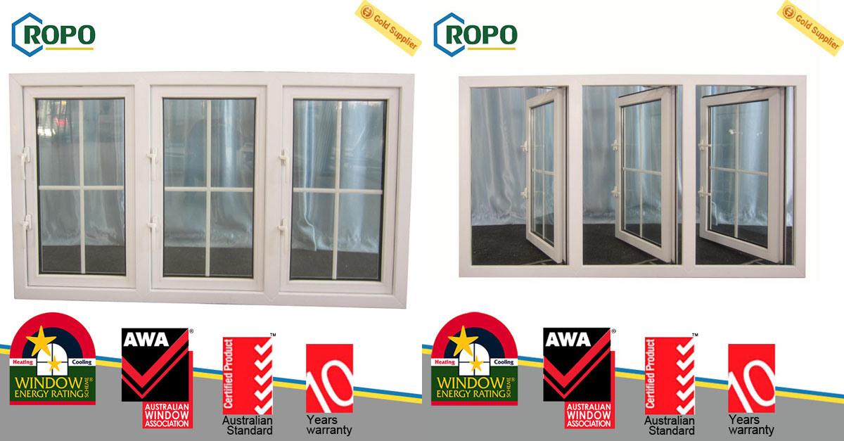 UPVC Double Glazed Sound Insulation Window, Australian Standards Windows As2047