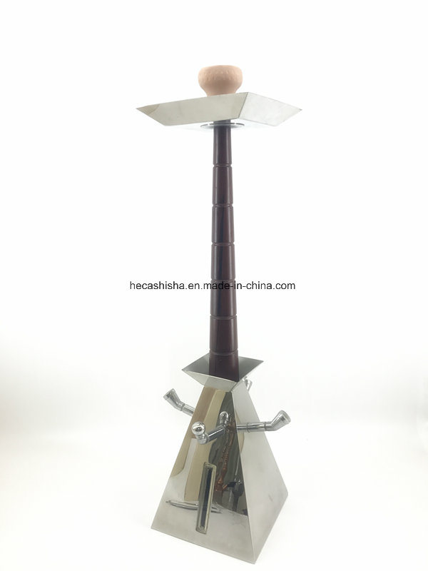 New Design Stainless Steel Wood Nargile Smoking Pipe Hookah Shisha