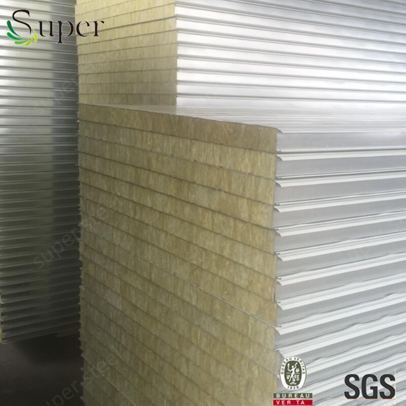 China EPS/Rock Wool/Glass Wool/PU Sandwich Panel