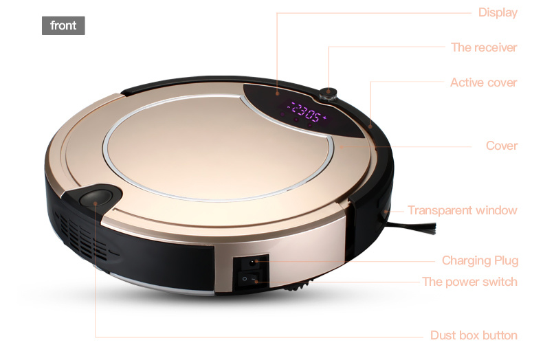 2016 Hot Sell Home Appliance Small Aspiradora Robot Vacuum Cleaner