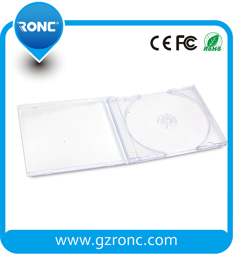 5.2mm All Transparent CD Jewel Case for Blank CD/DVD