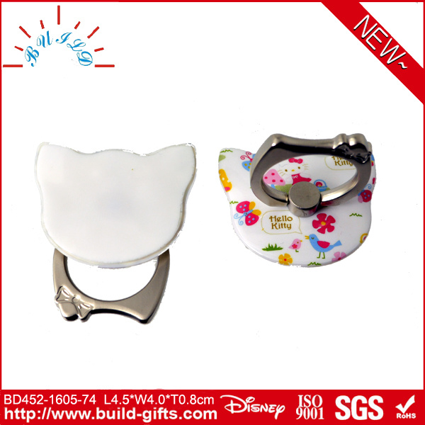 Cat Shape Rotate 360 Degrees Mobile Phone Ring Stent with Customized Photo Audited by Disney