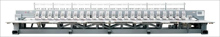 24 Head 6 Colors Flat Embroidery Machine
