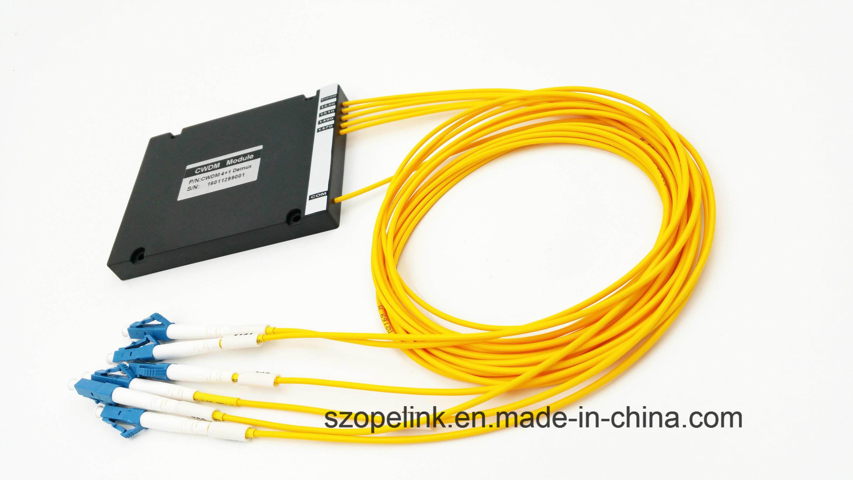 Optical Wdm Mux/Demux High Channel 4+1CH Plastic Box CWDM
