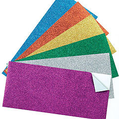 Colored A4 Size Self Adhesive Glitter Paper for Crafting