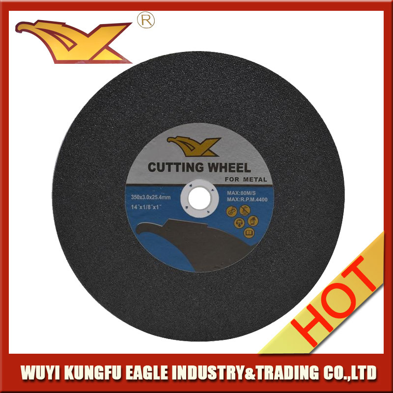 14′′350X3.0X25.4 mm T41 Abrasive Metal Cutting Discs with MPa En-12413