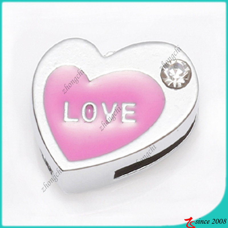 8mm Heart Slide Charms Wholesale (SC16040912)