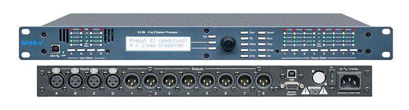 4.8sp Professional Digital Audio Speaker Processor