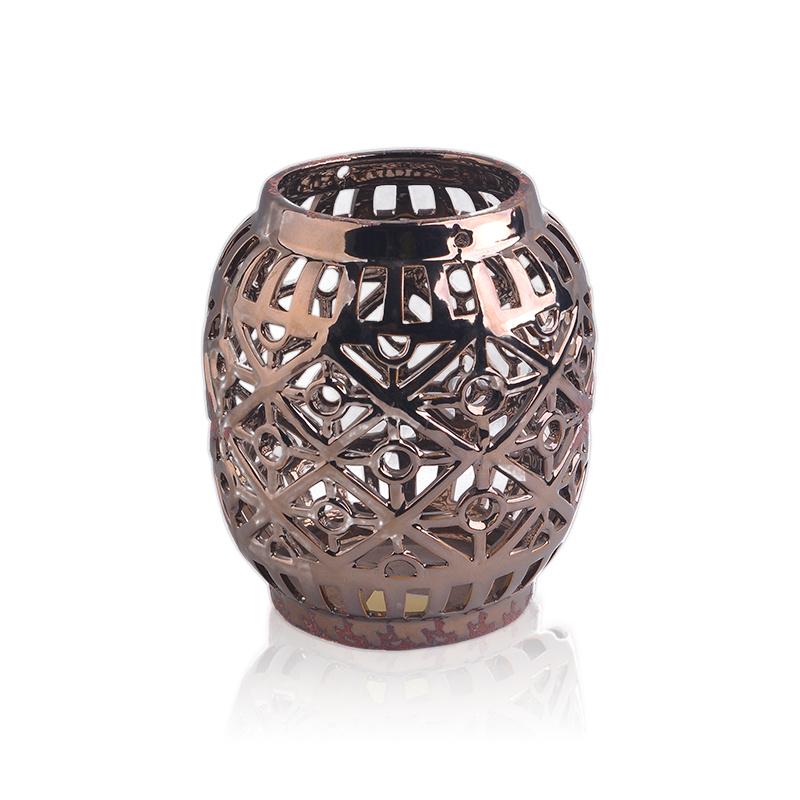 Vintage Style Loral Ceramic Lantern Ceramic Jars