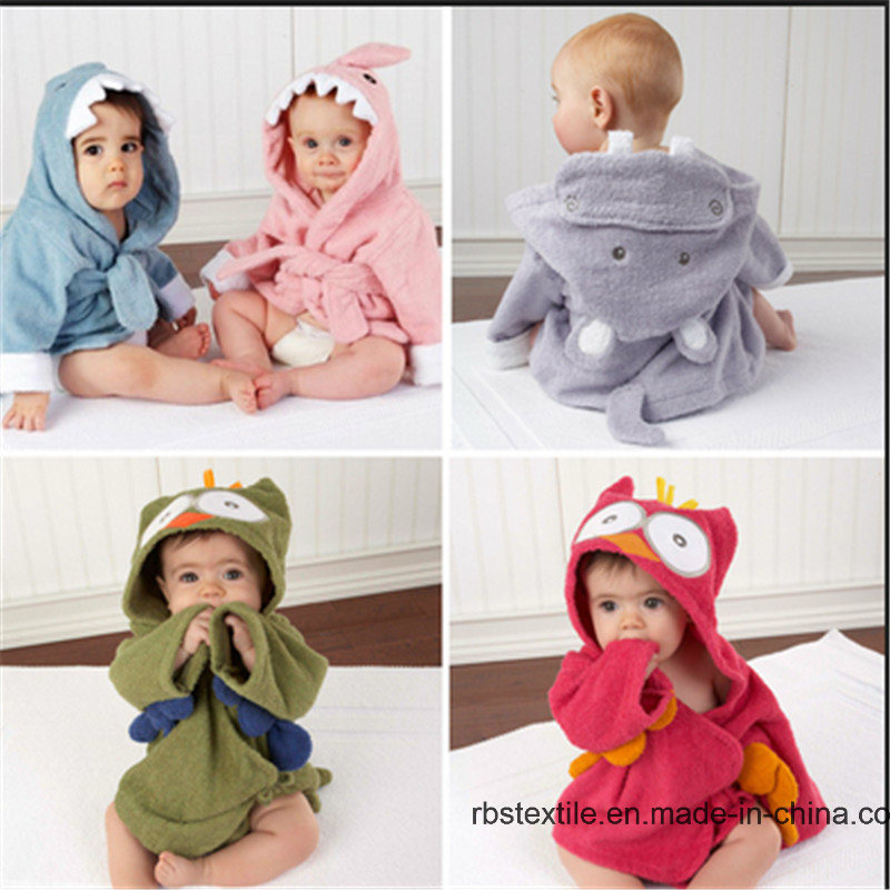 Cotton Baby Hooded Bath Towel Swaddle Blanket with High Quality