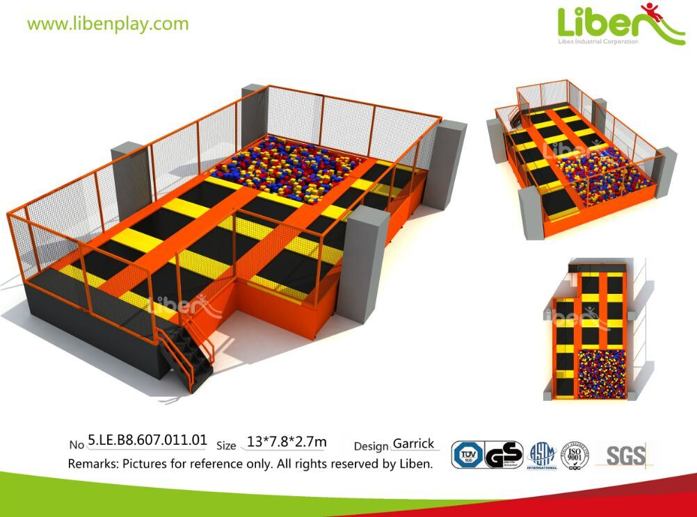 Fire Retardent Jumping Foam Pit, Custom Foam Blocks for Amusement Indoor Trampoline Park