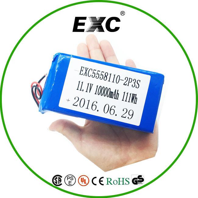 5558110 2p3s 11.1V Battery 10000mAh Lithium Polymer Battery Pack