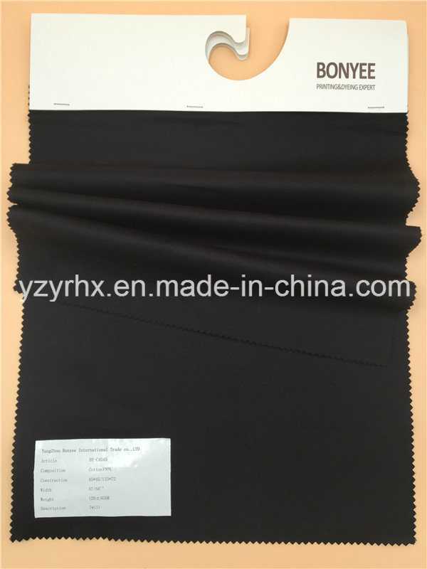 Finished Fabric 100% Cotton Twill Printed Black