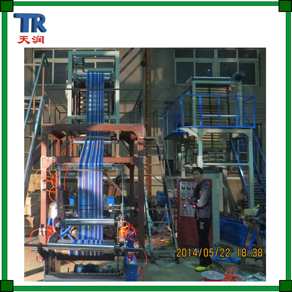 Double Color HDPE LDPE Plastic Film Blowing Machine