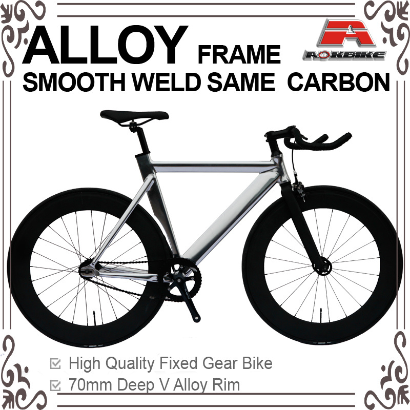 Chrome Alloy Same Carbon Fixed Gear Bicycle (KB-700C21)
