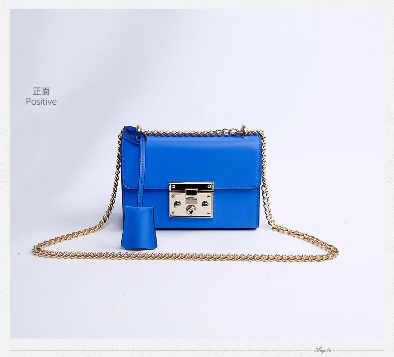 Dz003. Treasure Box Small Square Package Chain Shoulder Bag Fashion Leather Handbags Crossbody