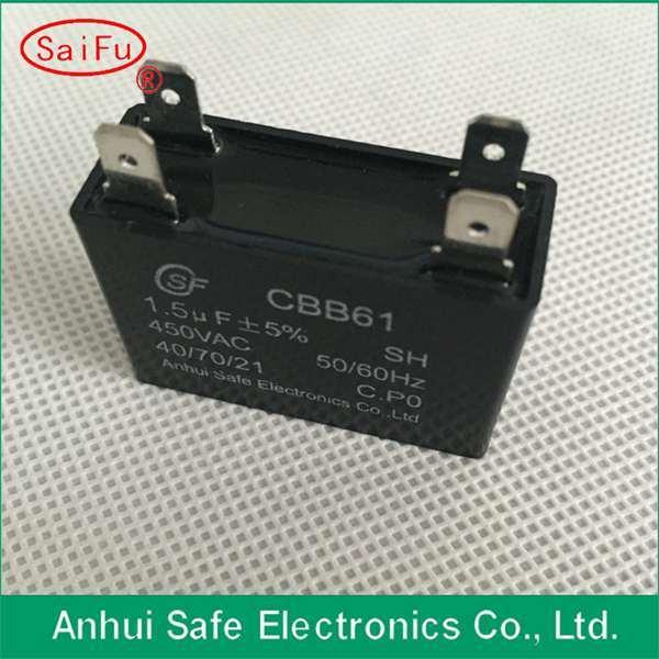Cbb61 10UF 350VAC MKP Polypropylene Capacitors