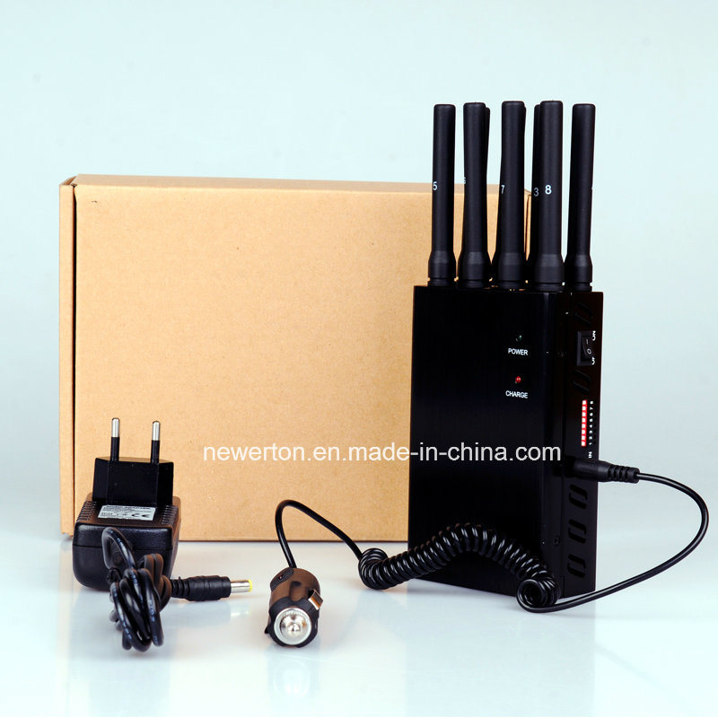 8 Antennas Portable GPS WiFi 3G 4G Mobile Phone Signal Jammer Blocker Lojack Jammer