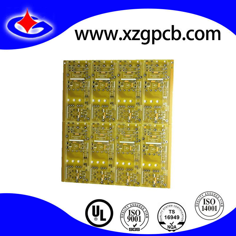 Customized Double Side Rigid PCB Circuit Board with Yellow Soldermask