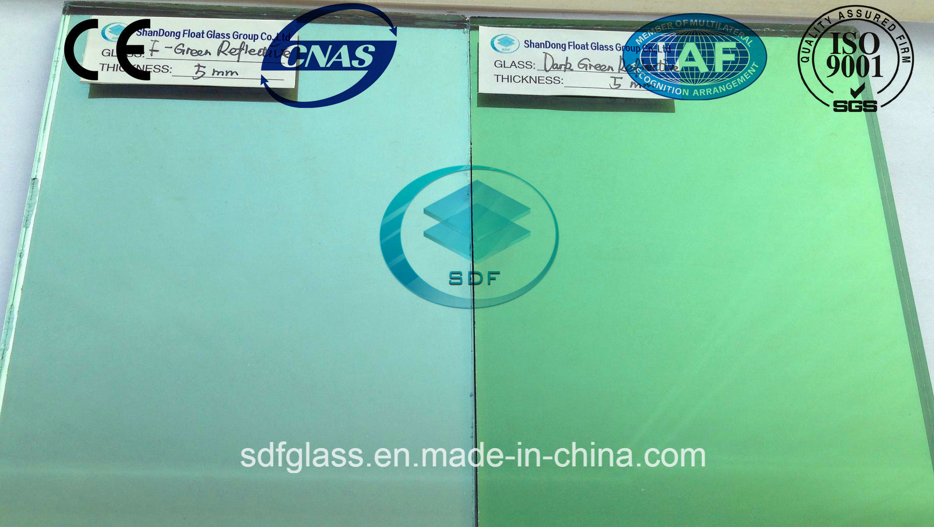 Dark Green Reflective Glass with CE, ISO (4 TO 10mm)