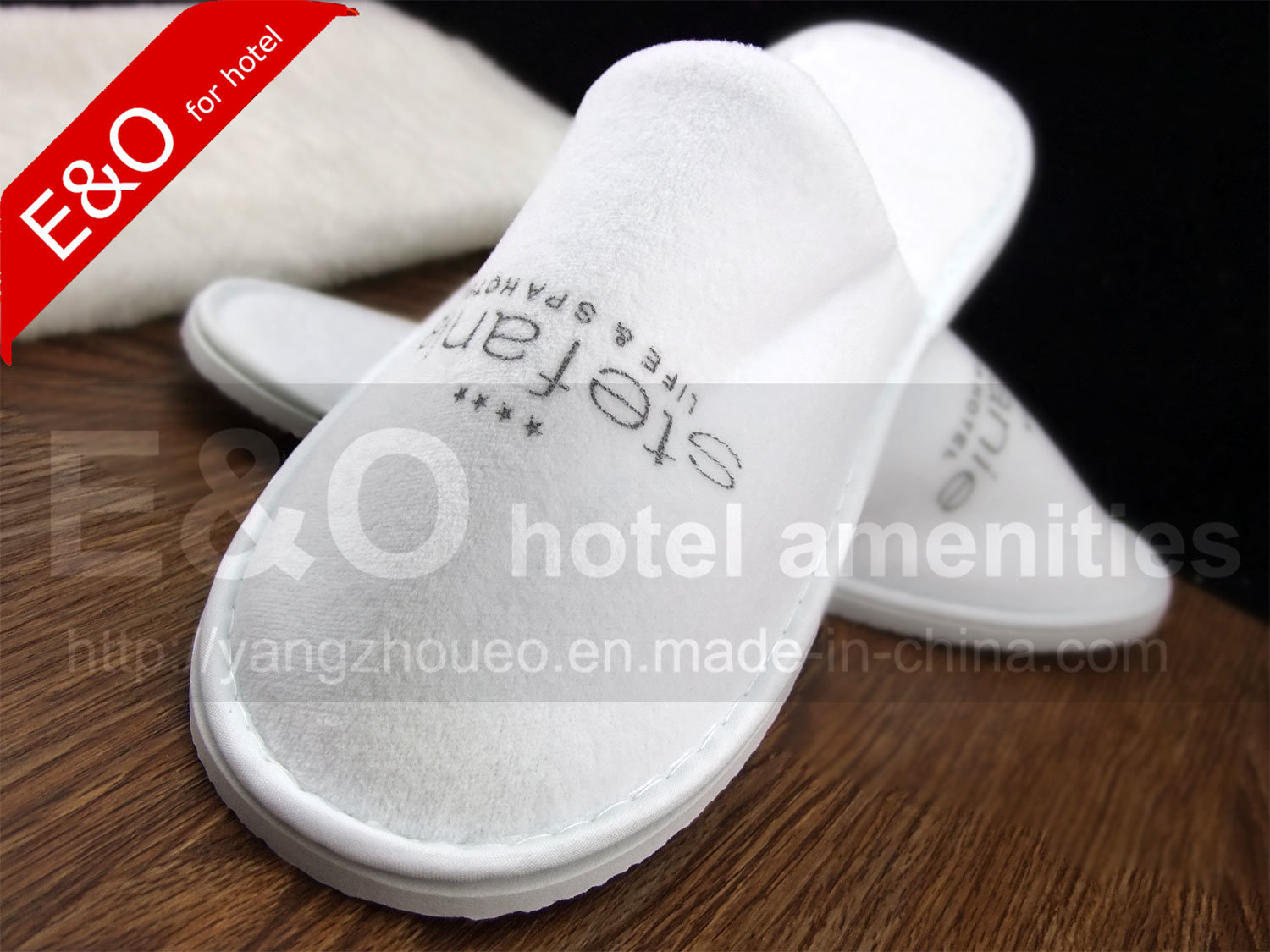 Disposable Velour Indoor Guestroom Guesthouse Hotel Slipper