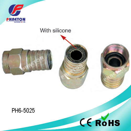 RG6 Crimp F Connector for Coaxial Cable (pH6-5025)