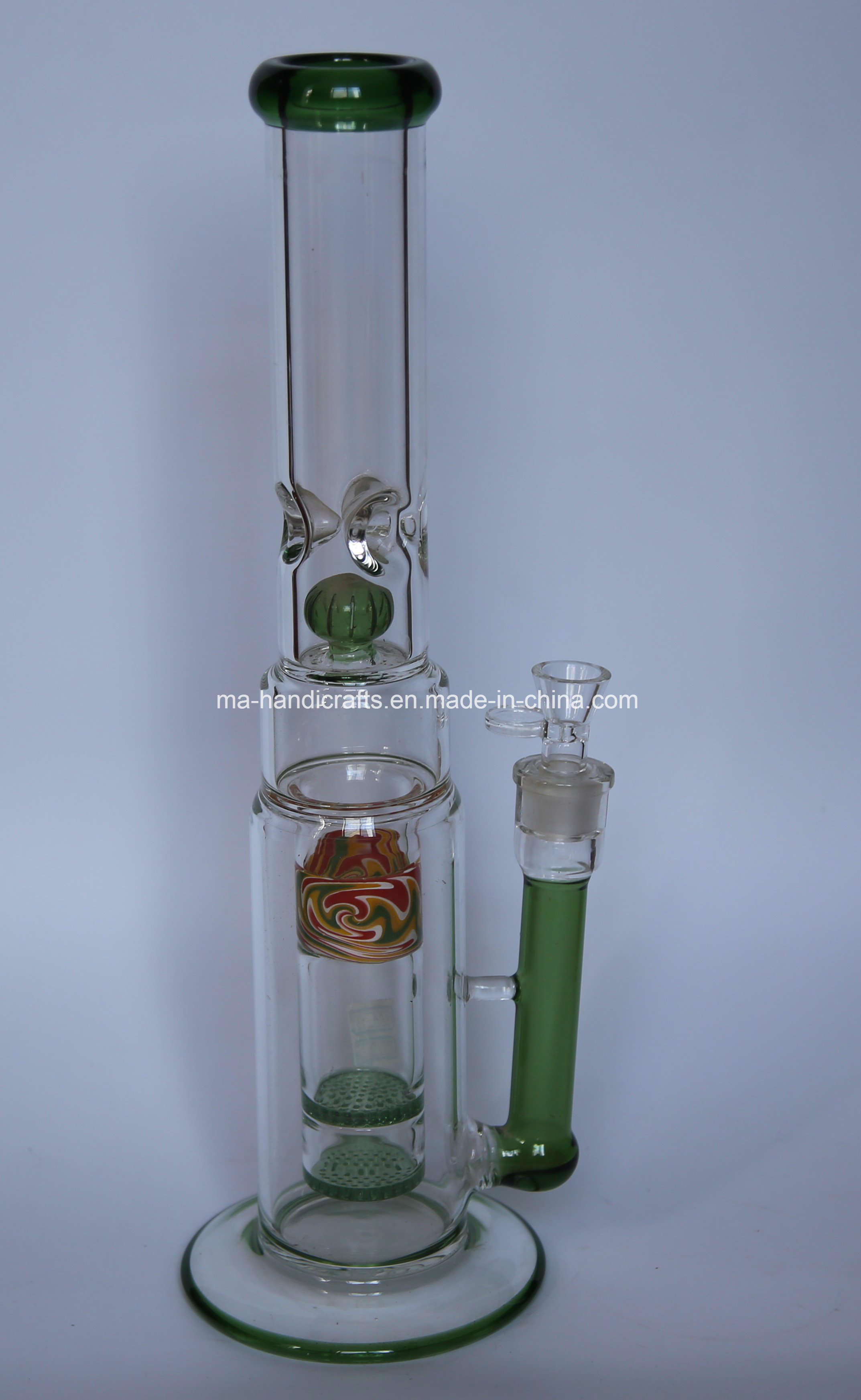 """17"""" Colorful Smoking Water Pipes with Double Honeycomb Percolator"""