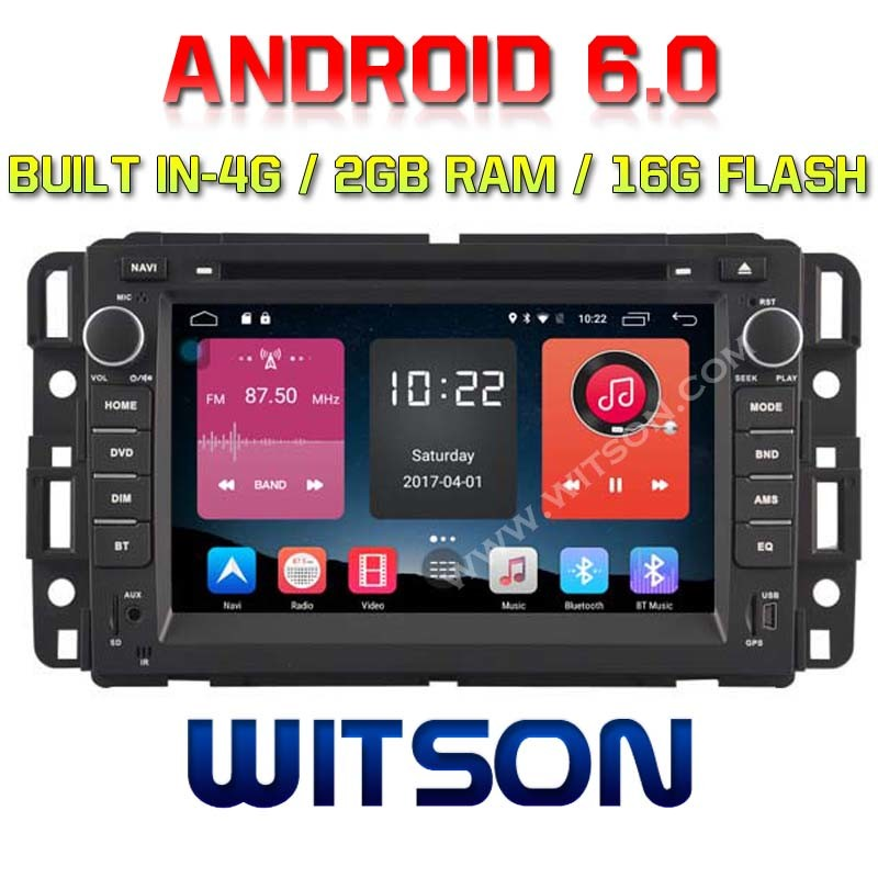 Witson Quad-Core Android 6.0 Car DVD Player for Gmc Yukon/Suburban 2g RAM Bulit in 4G 16GB ROM