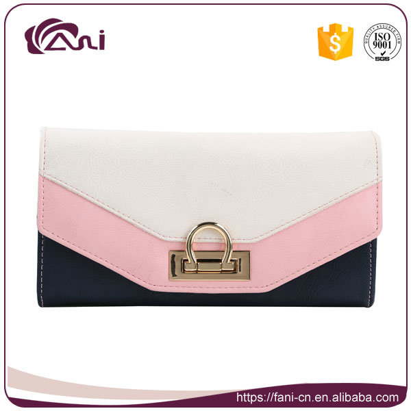 fashion Design Trend Women Lady PU Leather RFID Wallet