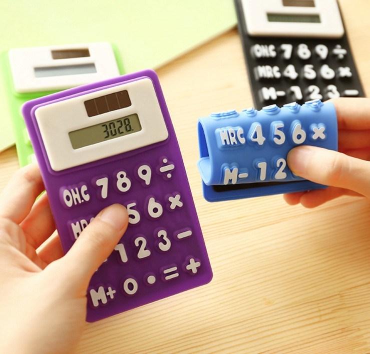 Foldable Silicone Calculator Colorful Flexible Rubber Calculator Mini Scientific Calculator