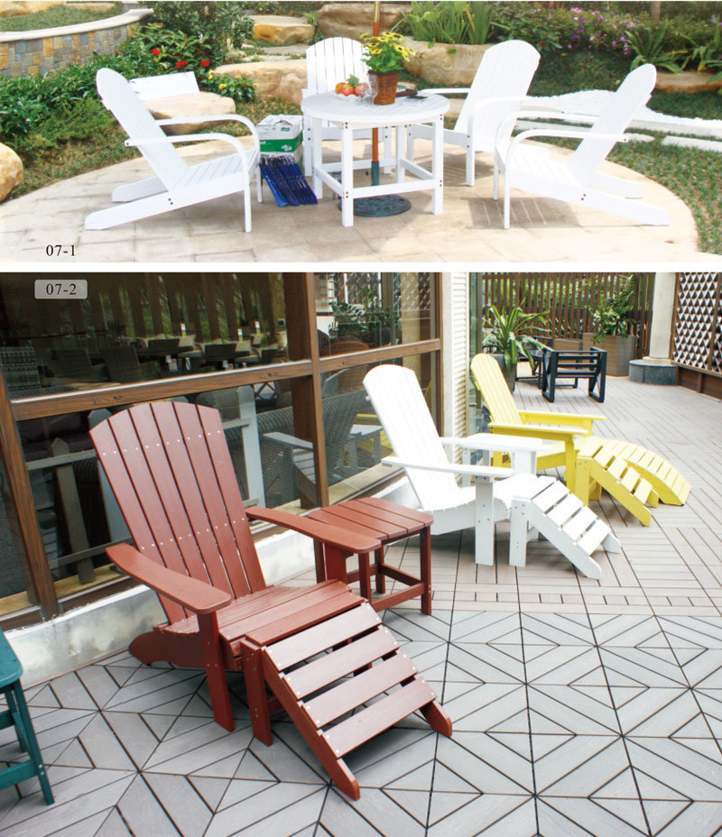 Outdoor Chair PS Wood Furniture for Garden Furniture Sets