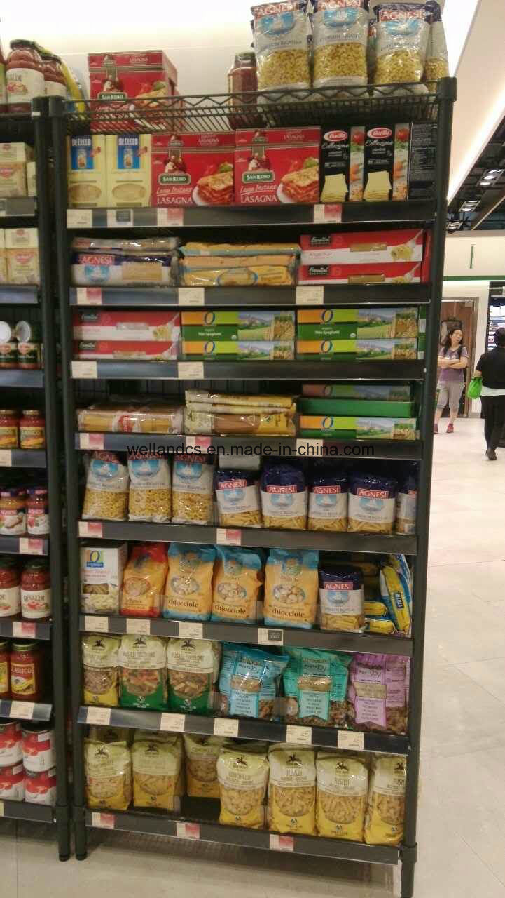 OEM Modern Supermarket Store Snacks Display Rack Shelf