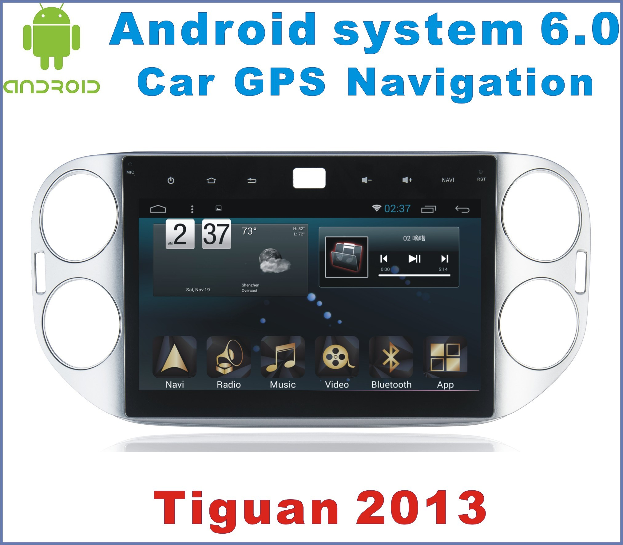 New Ui Android System 6.0 Car GPS for Tiguan 2013 with Car Navigation
