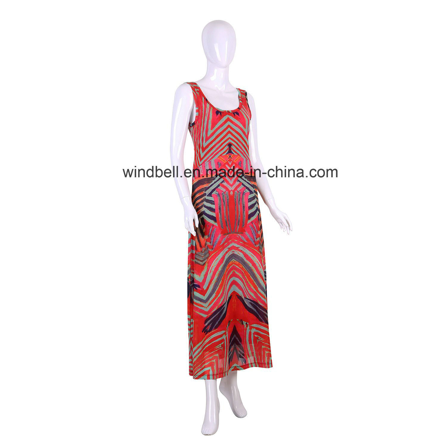Womens Slim Dress with Digital Print