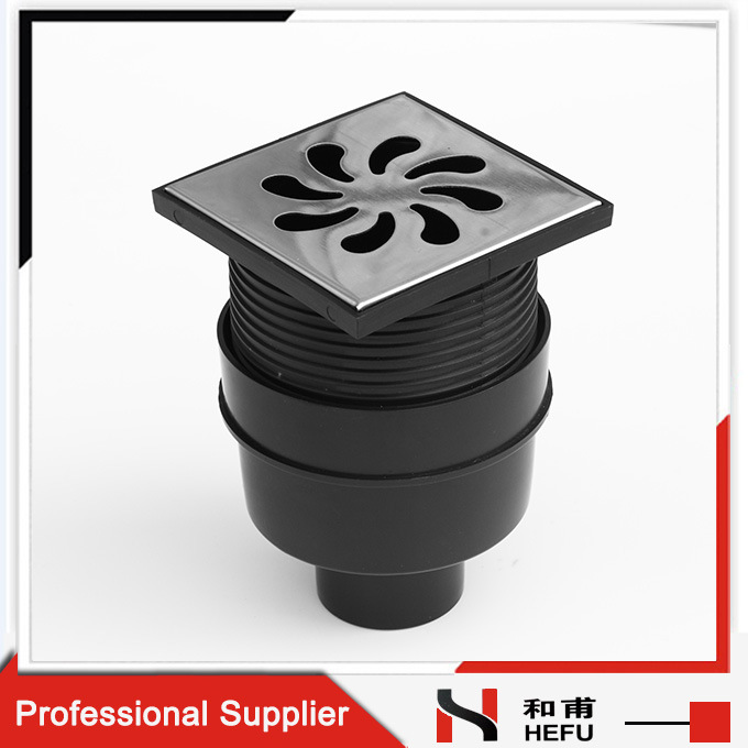 Supply Waste Pipe Connector Bathroom Dual-Channel Stainless Steel Plastic Floor Drain