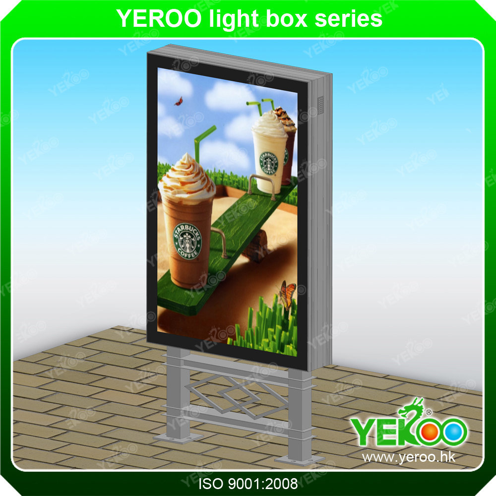 Outdoor Advertising Light Box with Scrolling System
