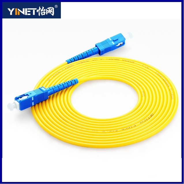 FTTH Fiber Optical Equipment 3m Sc-Sc Simplex 9/125 Singlemode Fiber Optic Cable Sc Patch Cord
