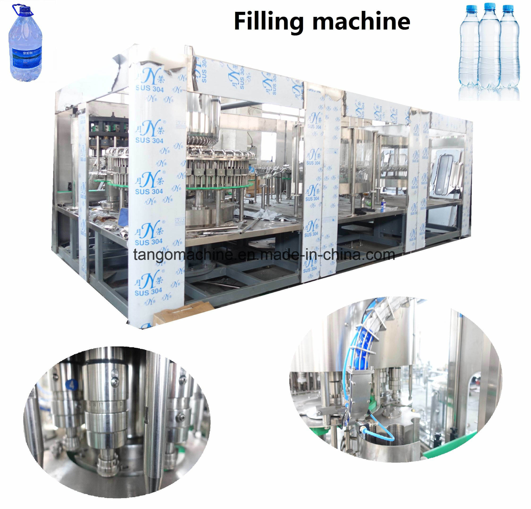 Full Automatic Complete Small Bottled Drinking Mineral Water Bottling Plant Production Line