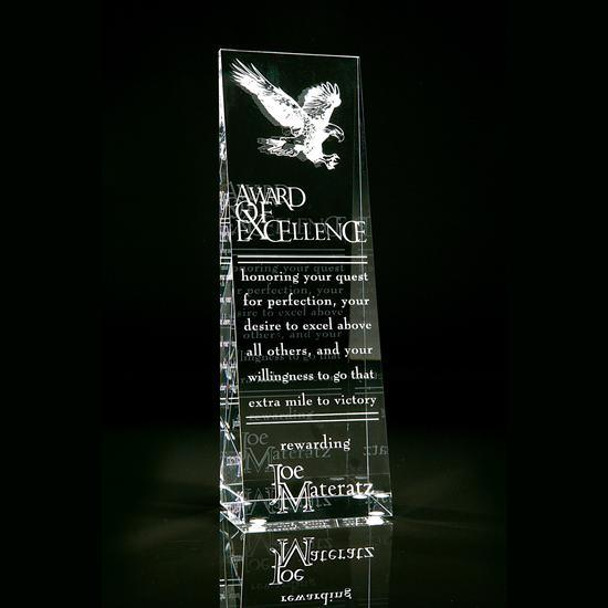 Customize Clear Laser Engraved Acrylic Trophy Event Award for Chess Winner