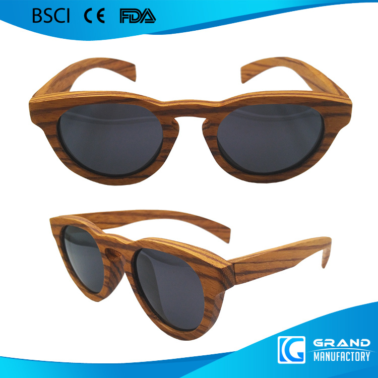 Classical Frame Cat UV400 Handmade Custom Wood Sunglasses
