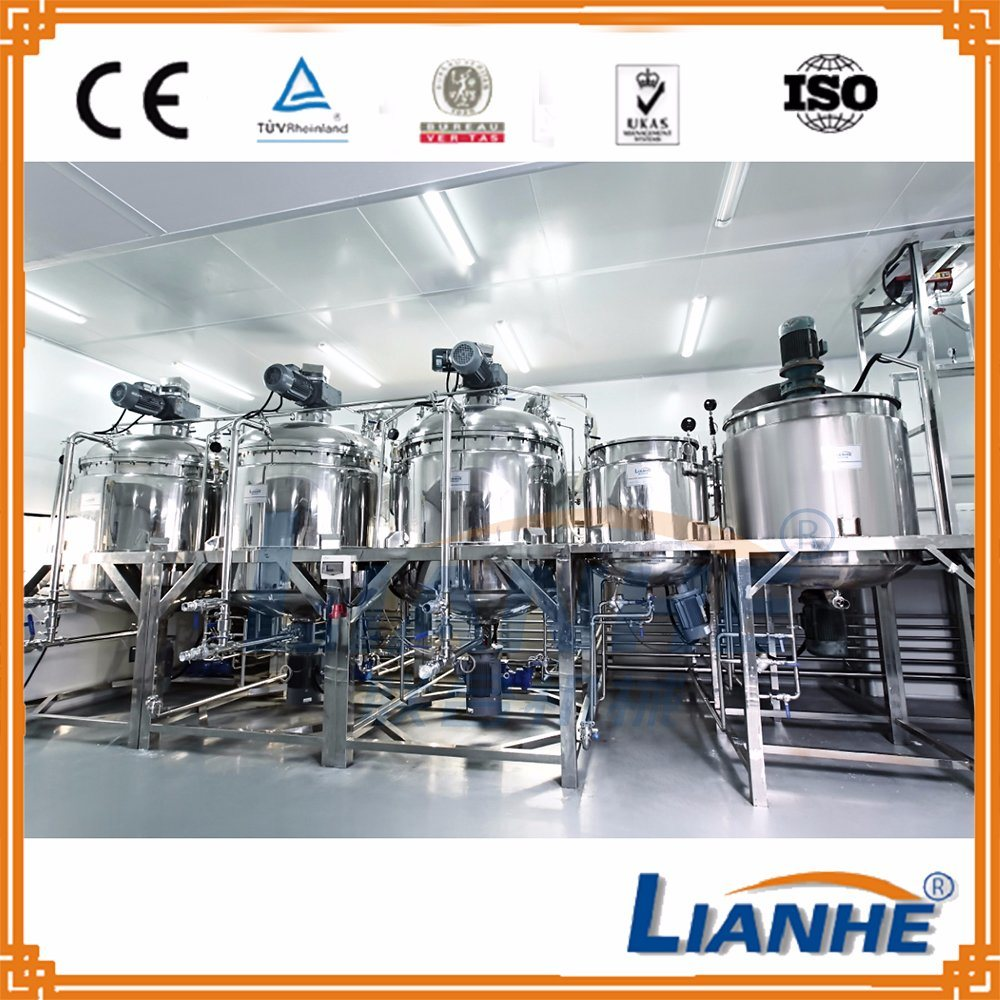 500L Vacuum Emulsifying Mixer for Cosmetic Cream/Pharmaceutical Ointment