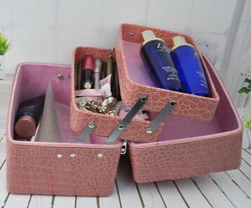 PU Beauty Multilayer Cosmetic Storage Box