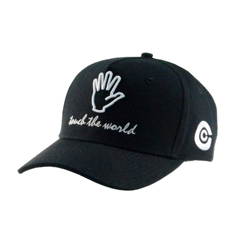 Wholesale Black/Gray 5 Panels Cotton Baseball Cap Golf Cap